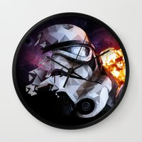 stormtrooper Wall Clocks featuring Stormtrooper by Ruveyda & Emre