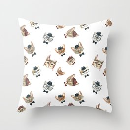 Cat People Pattern Throw Pillow