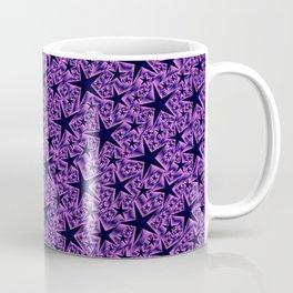 purple,many small and big stars as pattern in shiny metal Coffee Mug