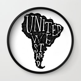 South America - United we stand Wall Clock