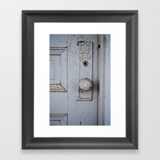 Farmhouse Door Framed Art Print