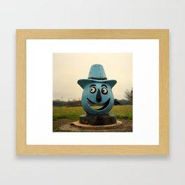 The Tin Man, Bernstein Park, Monroe, LA. Framed Art Print