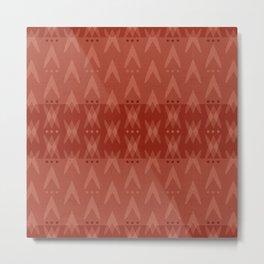 """Dark Coral (Pattern) Tribal"" Metal Print"
