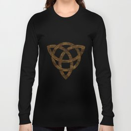 Wooden Celtic Knot Long Sleeve T-shirt