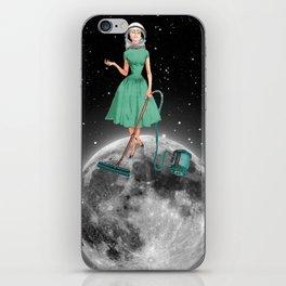 Housewife on the moon iPhone Skin