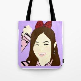 Knock Knock! Tzuyu Purple Tote Bag