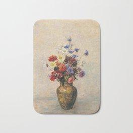 Odilon Redon - Flowers In A Vase  1910 Bath Mat