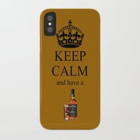 jack daniels iPhone & iPod Cases featuring KEEP CALM JACK DANIELS by Best Light Images