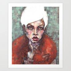 White Dove for print Art Print