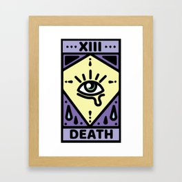 Pastel Death Tarot Card Framed Art Print