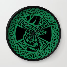 Celtic Nature Deer Wall Clock
