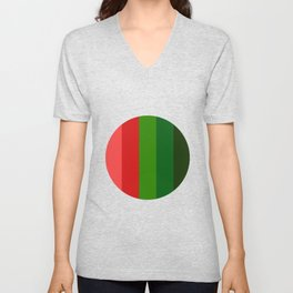 Christmas color chart Unisex V-Neck