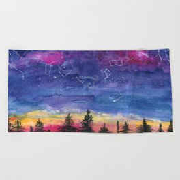 The Zodiac over Sequoia Beach Towel