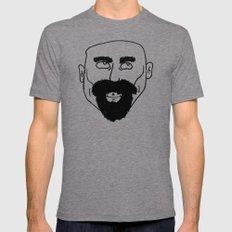 beard Mens Fitted Tee MEDIUM Tri-Grey