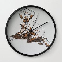 Muddy Puppy, Ruiner of Furniture Wall Clock