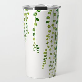 String of pearls #2 in green - ink painting Travel Mug