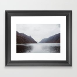 Frafjord Norway in winter Framed Art Print
