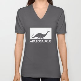 Apatosaurus Dinosaur Unisex V-Neck