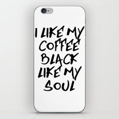 Black like my soul iPhone & iPod Skin