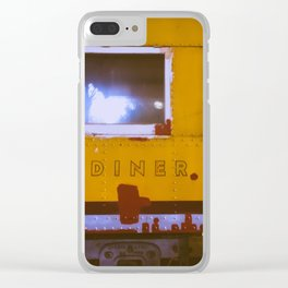 Vintage Diner Clear iPhone Case