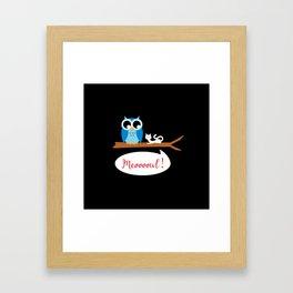 Meoooowl Framed Art Print