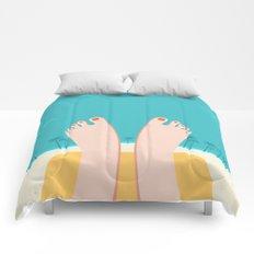 Feet on Beach Comforters