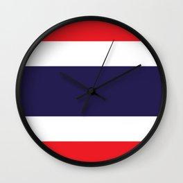 flag of thailand 2 -thailand,Siam,thai,siamese,bangkok. Wall Clock