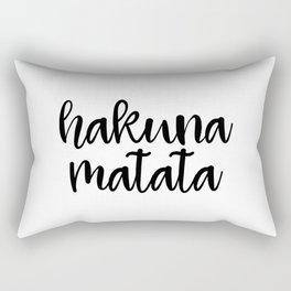 Hakuna Matata, Motivational Quote, Funny Art, Motivational Print, Inspirational Art Rectangular Pillow