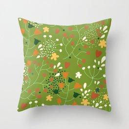 Floral seamless pattern. Throw Pillow