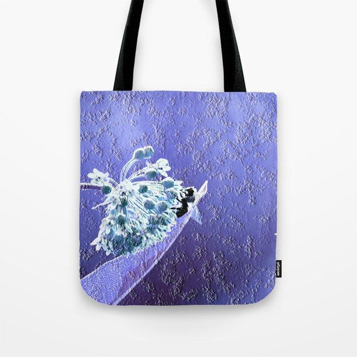 Blooming in the sky (blue-violet granite) Tote Bag