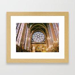 Sainte Chapelle - film Framed Art Print