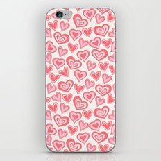 MESSY HEARTS: PEACHY iPhone Skin