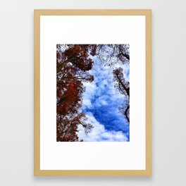 sky fall. Framed Art Print