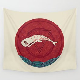 The Devil Roams These Waters Wall Tapestry