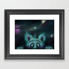 The Universe Creature Framed Art Print