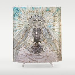 Black Madonna Shower Curtain