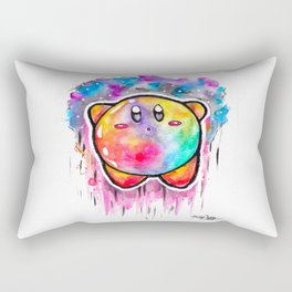 Cute Galaxy KIRBY - Watercolor Painting - Nintendo Rectangular Pillow