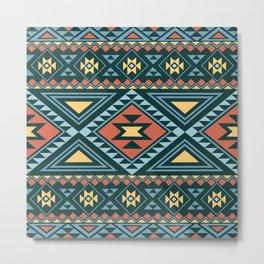 American Native Pattern No. 155 Metal Print