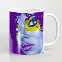 indigo Mugs featuring INDIGO by Marcus Wild