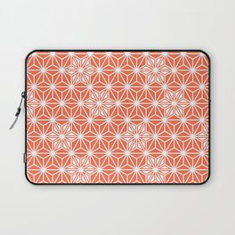 Japanese Asanoha or Star Pattern, Pastel Coral and White Laptop Sleeve
