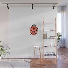 Ladybug | Entomology watercolor art Wall Mural