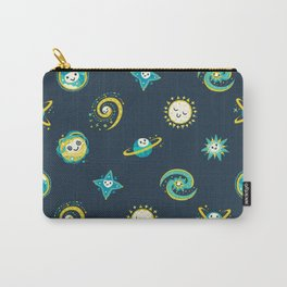 Pastel space pattern - dark Carry-All Pouch