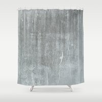 concrete Shower Curtains featuring CONCRETE by HUXHUX