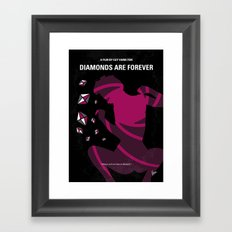 No277-007 My Diamonds Are Forever minimal movie poster Framed Art Print