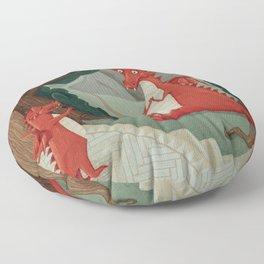 Concert of little Dragon Floor Pillow