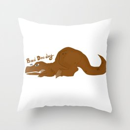 Bad Dino Day Throw Pillow
