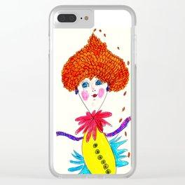 Curls Rain Clear iPhone Case