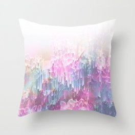 Magical Nature - Glitch Pink & Blue Throw Pillow