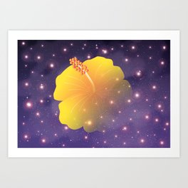 Hibiscus in Universe_Y Art Print
