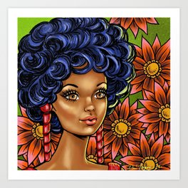 Melanin B Girl Art Print